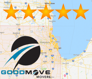 Glen Ellyn, IL Local Moving & Storage Good Move Movers is ranked among the best of Glen Ellyn Moving Companies  with an average customer quality rating of 4.9 out of 5 stars from hundreds of reviews.